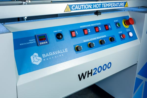 Quadro di comando della macchina piegatrice WH2000